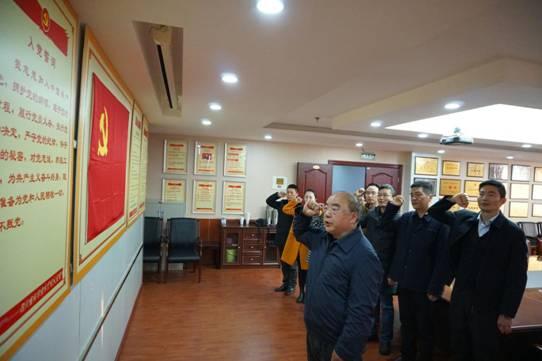 科技厅党组书记、厅长刘东同志参加所在党支部 重温入党誓词活动并讲党课